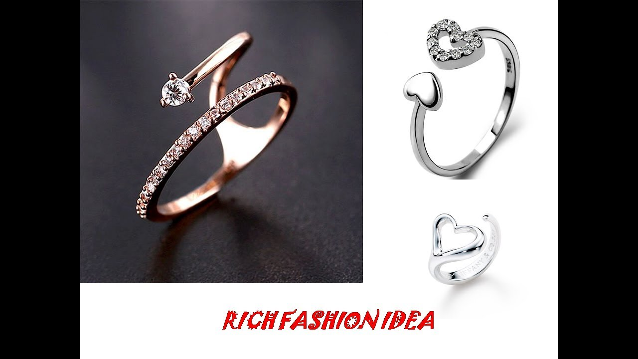 Latest Stylish Ring CollectIon For Girls/Women|| Beautiful Silver ...