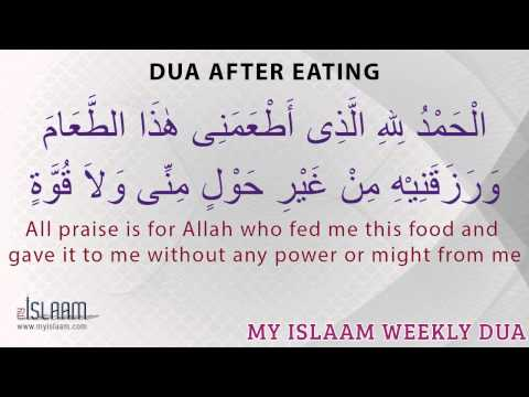 Dua After Eating - Daily Duas - Islamic Supplications