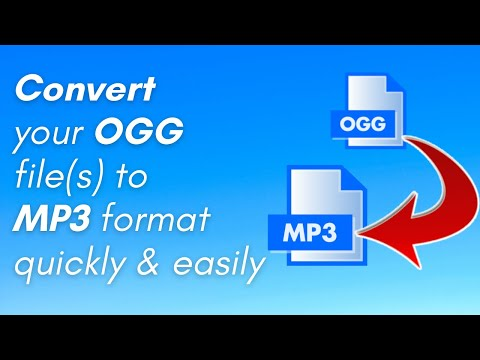 How to Convert OGG to MP3 (PC & Mac users only)