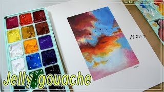 [Jelly gouache] with cloud and…