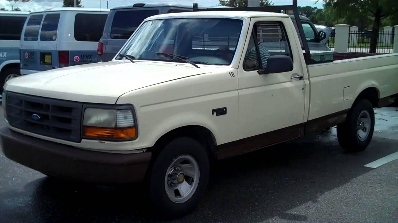 1994 Ford F 150 Xl Reg Cab Long Bed 2wd 4 9l L6 Youtube