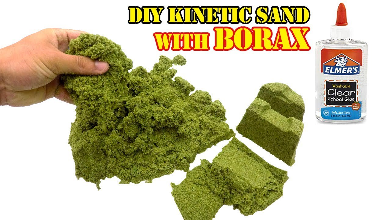 How to make kinetic sand with clear glue