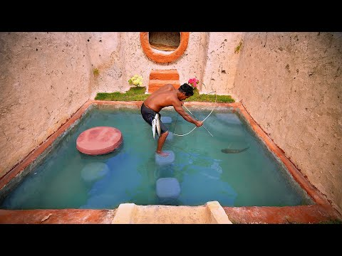 How To Build Underground Temple Swimming Pool, Underground House, Bow and Arrow, Bowfishing