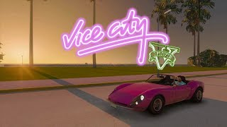 Скачать Vice City Remastered GTA V Mod