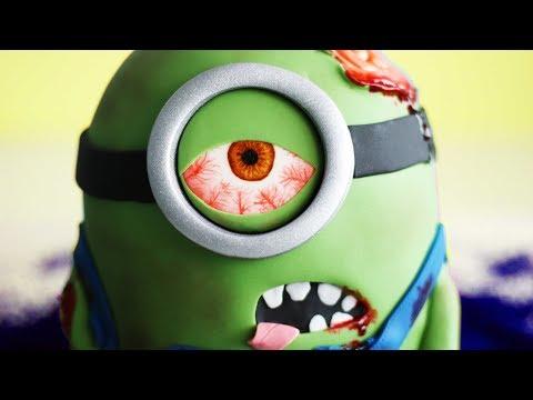 MINION ZOMBIE Cake for Halloween!! 😱