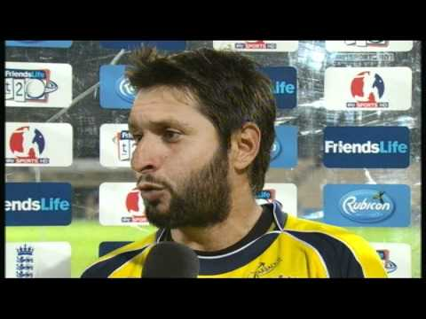 Shahid Afridi Man Of The Match Interview - Hampshire v Sussex FLT20 (27/06/11)