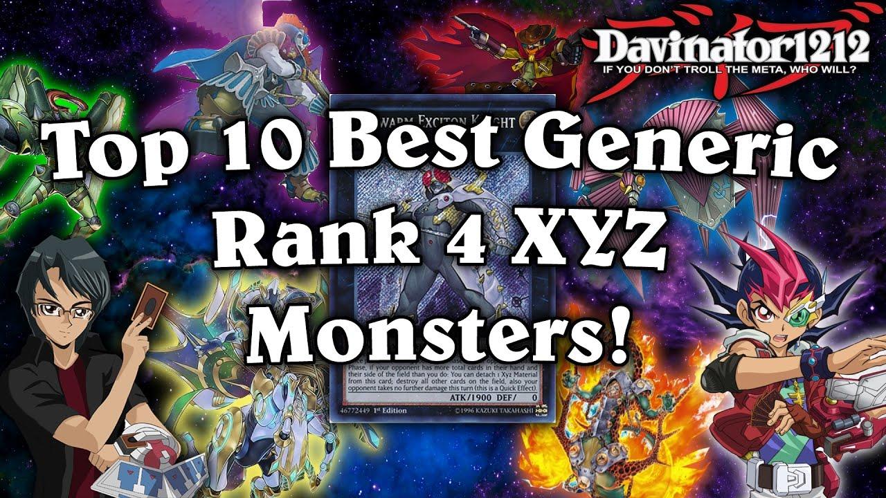Top 10 Best Generic Rank 4 Xyz Monsters In Yu Gi Oh Youtube