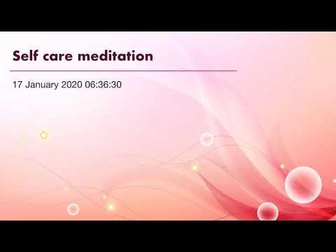 Self Care Meditation By Amy Simpson Breathe Believe Achieve