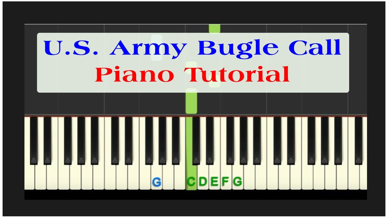 Easy Piano Tutorial Reveille Us Army Bugle Call With Free Pdf Sheet Music
