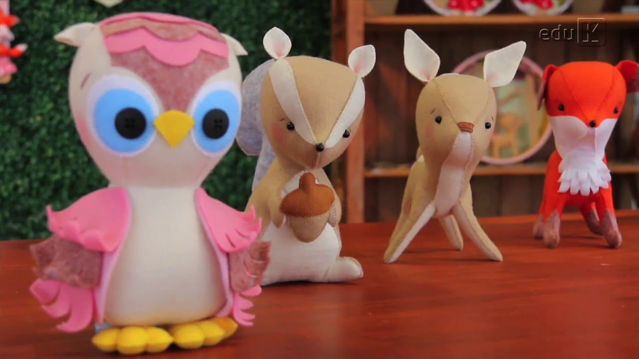 Curso Online De Feltro Em Decoracao Para Bebes Floresta Encantada Eduk Com Br Youtube