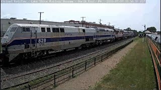 Six Amtrak Oldsters passing North East, PA