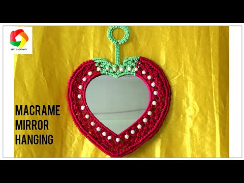 How to make Handmade simple Macrame Mirror Wall Hanging Full Step by Step Video tutorial|