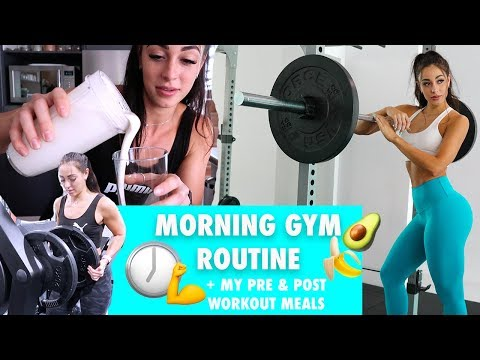 MY MORNING ROUTINE | Pre & Post-Workout Meals + Leg Day