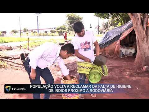 População volta a reclamar da falta de higiene de índios próximo a rodoviária de Campo Mourão