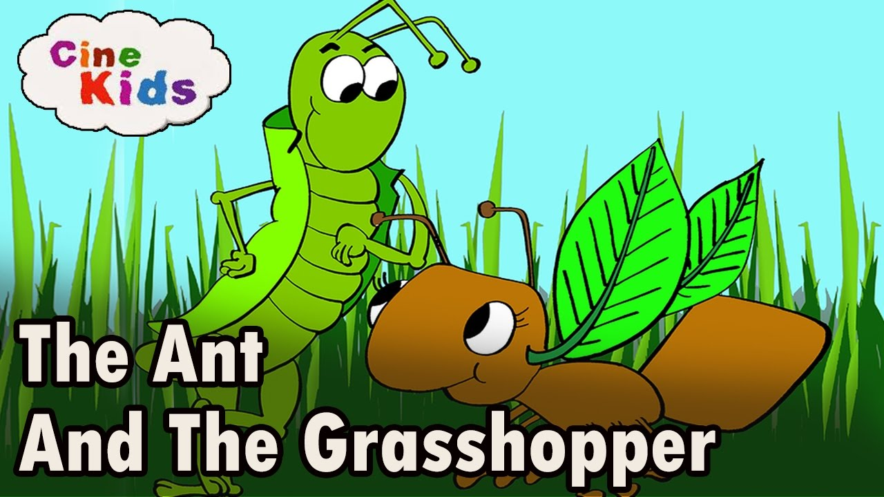 photo relating to The Ant and the Grasshopper Story Printable called The Ant and The Grhopper Tale Animated Little ones Tale Inside of English  Studies For Little ones In just English