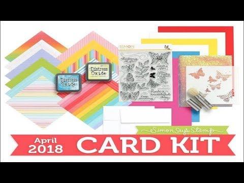 "[Part1] SSS- April 2018 ""Beautiful Day"" card kit | 10 cards 1 kit"