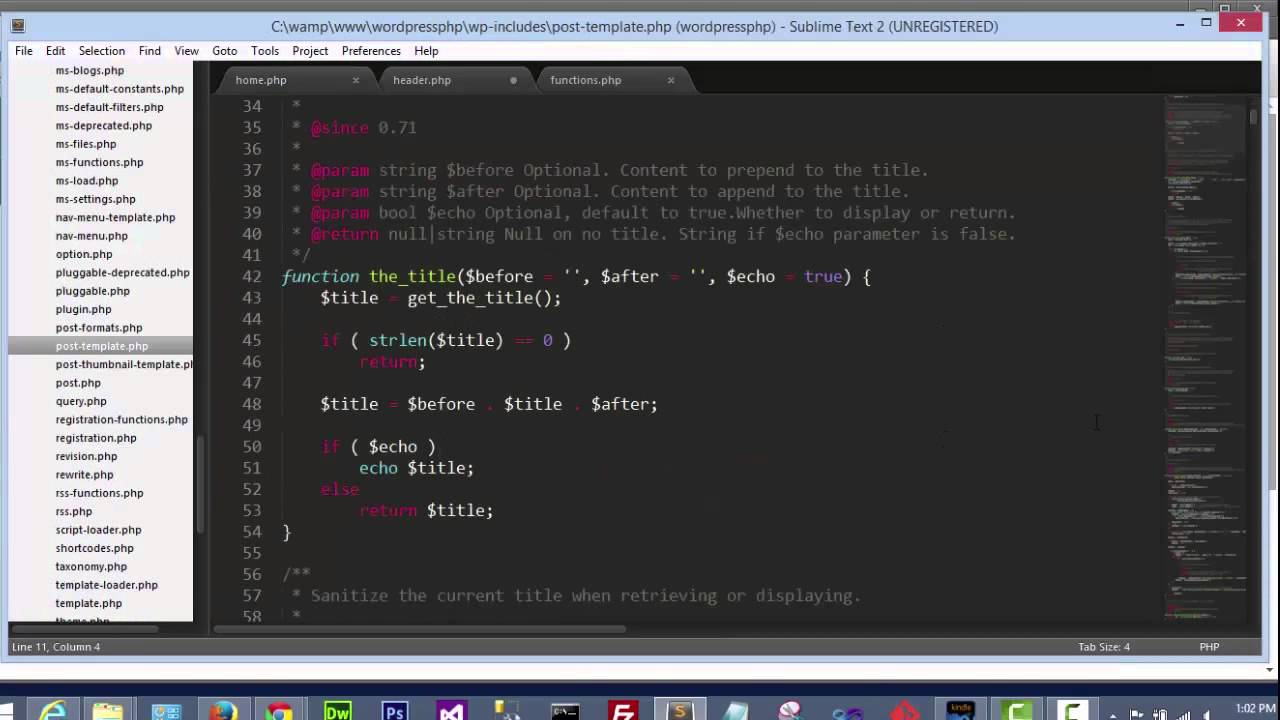 Download PHP Tags in WordPress