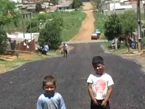 Guarapuava - Programa mais asfalto pavimenta Odilo...