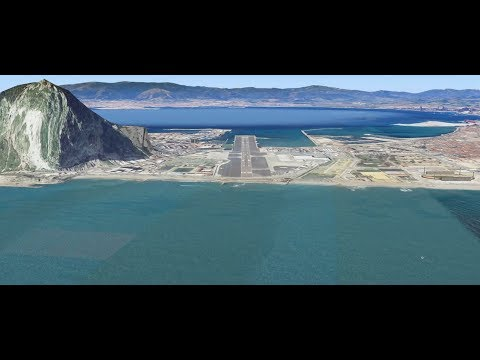 Gibraltar LXGB Low Approach - Full ATC with Subtitles