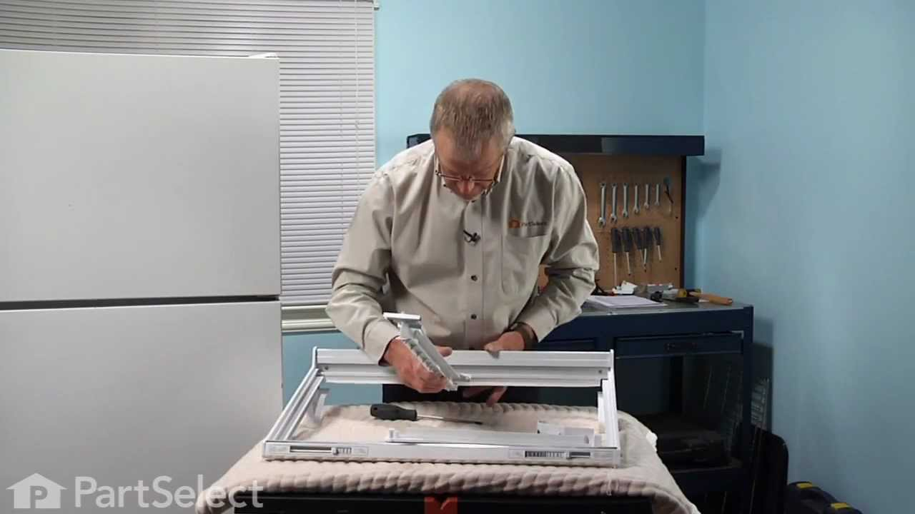 refrigerator vegetable drawer. refrigerator repair - replacing the vegetable drawer slide rail right side (ge part wr17x2769) youtube a