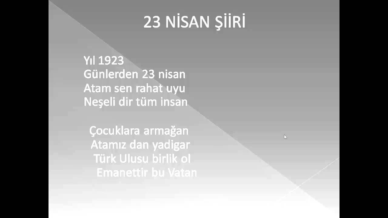 23 Nisan şiiri12345sınıflara Yardımcı şiir Youtube