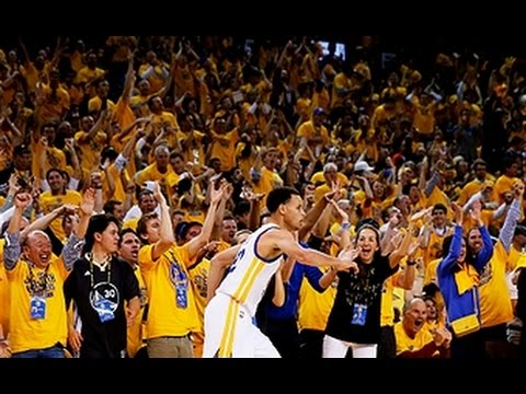 Curry hits buzzer beating jumper to end half youtube