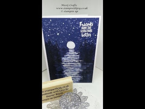 Waterfront night time card using stampin up products