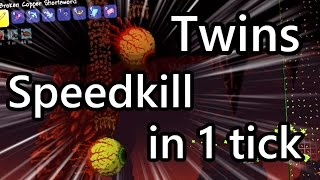 Terraria Twins Speedkill in 1 tick - World Record