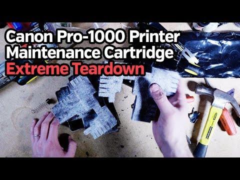 Canon Pro-1000 Printer Maintenance Cartridge Teardown