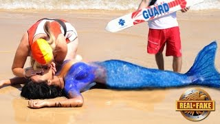 Repeat youtube video OFFICIALS RESCUE LIVING MERMAID