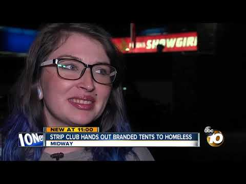 Deuce - Strip Club Hands Out Branded Tents To Homeless