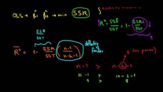STATISTICS I Intuition Of The Adjusted R Squared I Exle I Part 2