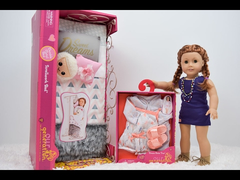 New American Girl Doll Bed And Pajamas!