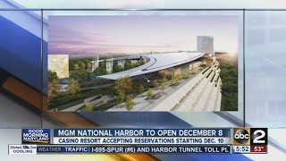 MGM National Harbor casino to open December 8(The MGM National Harbor casino near the nation's capital is scheduled to open Dec. 8. ◂ ABC2 News offers comprehensive local news, Maryland's most ..., 2016-10-04T13:16:58.000Z)