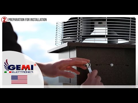 Chimney fan for fireplace - Roof fan for smoke extract (Version 110V for USA)