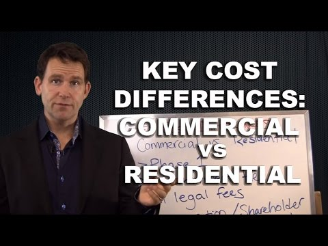 Key Cost Differences Between Residential and Commercial Real Estate Investing