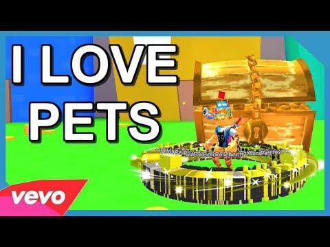ROBLOX MUSIC VIDEO ♪ I LOVE PETS ♪ (Pet Simulator)