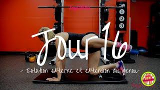 Jour 16 | ROTATION EXTERNE ET EXTENSION DU GENOU