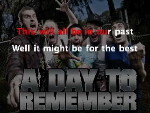 If It Means A Lot To You - A Day To Remember (Lyrics ... A Day To Remember Lyrics If It Means Alot To You