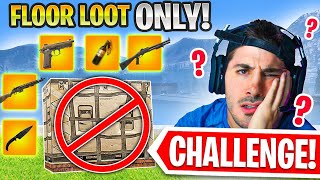 Can we WIN with GROUND LOOT ONLY?! 😧 (Modern Warfare Warzone)