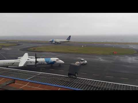 Landings With Strong Wind At The Horta Airport- Faial Island Azores