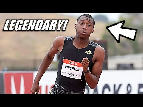 THIS IS LEGENDARY!!    Erriyon Knighton Breaks Usain Bolt's WORLD RECORD In The Youth 200 Meters