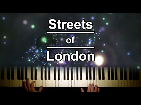 Streets of London by Ralph McTell on the piano with lyrics
