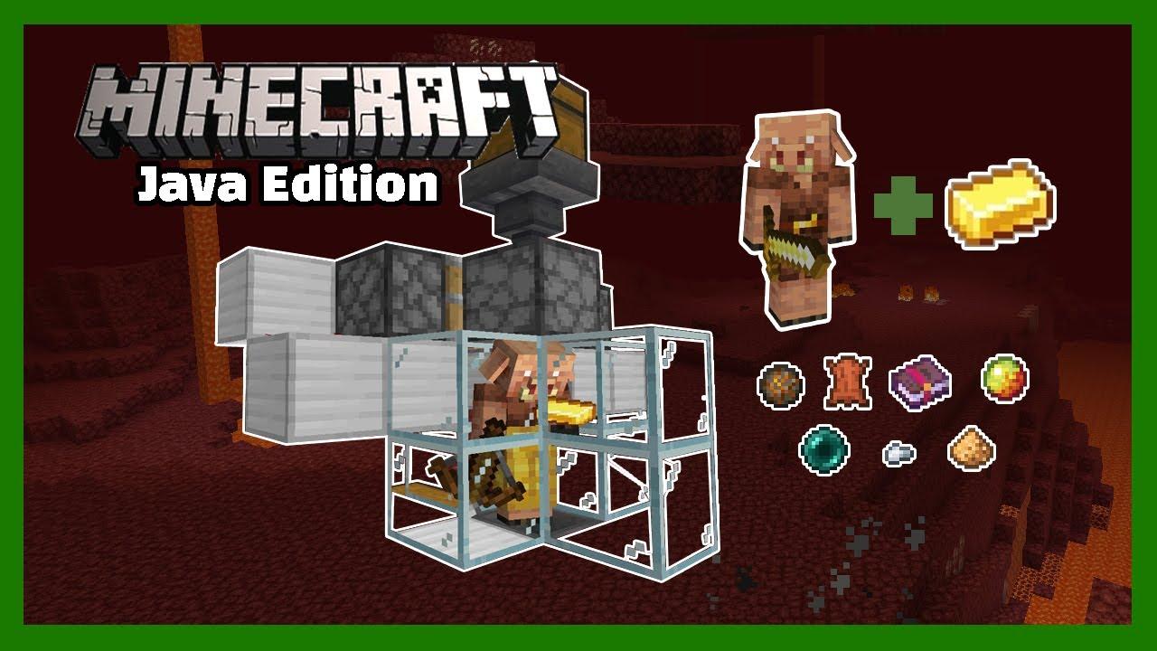 [자바] 자네 금괴가 탐나는군! 피글린 물물교환 농장 Minecraft Java Edition 1.16 Piglin Barter Farm Tutorial