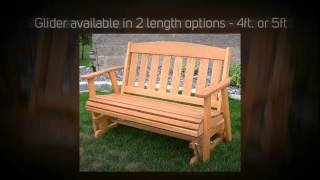 Amish Outdoor Furniture Mission Outdoor Glider