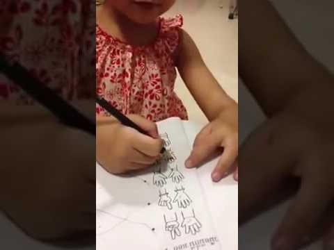 Porjai and her homework
