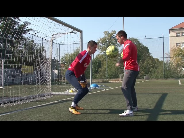 Ilija Catic goalkeeper training at Viborg Koceic academy