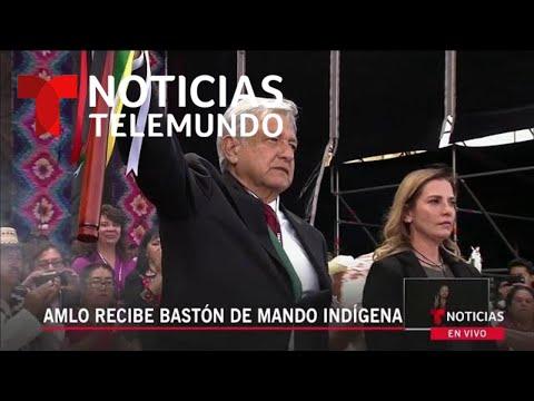 "AMLO: Primer presidente de México en recibir ""Bastón de Mando Indígena"""