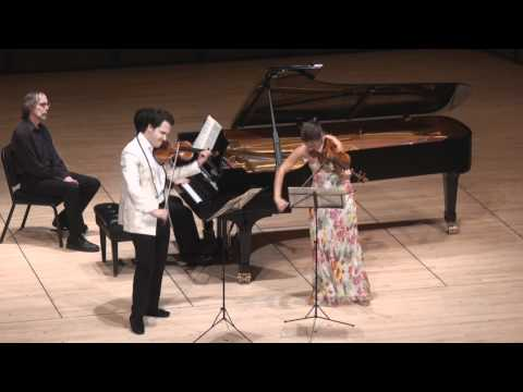 Moszkowski Suite for Two Violins & Piano - 1st mvt. | G. Schmidt, B. Hristova, V. Asuncion