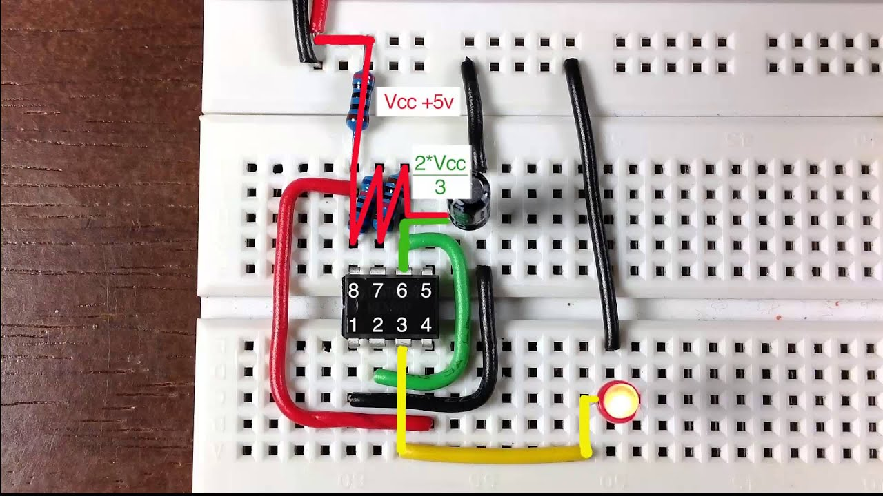 How A 555 Timer Functions As An Oscillator Youtube Function Circuits Lm555 The Following Are